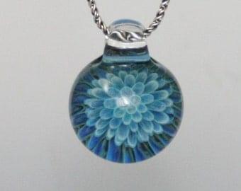 Trippy Glass Heady Pendant Handblown Boro Lampwork Glass Jewelry
