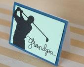 Grandpa Golfer Father's Day Greeting Card Birthday papa Dad father golfing golf masculine card