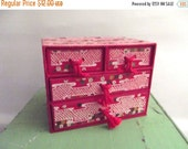 50% OFF Sale Charming Vintage Chinese Asian Red Paper Box Jewelry Box