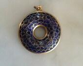 Vintage cloisonné pendant