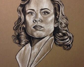 Original Peggy Carter drawing