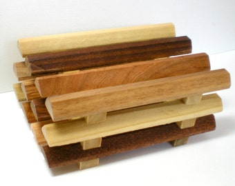 Soap Dish, Triangle Plank Multi Wood Soap Dish, Soap Saver, Bathroom Soap Dish, Draining Soap Dish, Soap Holder