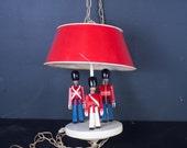 RESERVED Vintage Kay Bojesen Wood Toy Soldiers Hanging Lamp Danish Modern Light