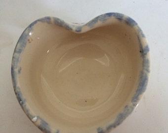 Heart Shaped Dish Ellis Pottery