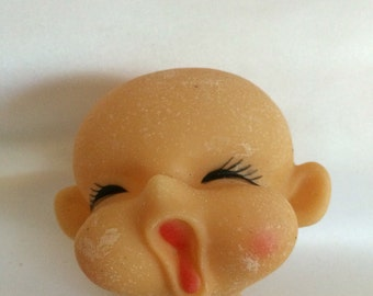 Vintage Elf, Gnome, Pixie Doll Head