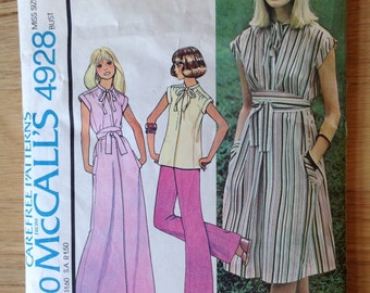 McCalls 4928 Dress or Blouse • size Medium