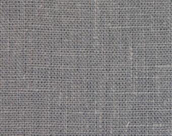 Solid color linen drapes, monument grey linen curtain panels, rod pocket panels, drapes