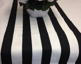 Wholesale lot 12 black white stripe wedding party tablerunners, centerpiece, wedding decorations cotton fabric
