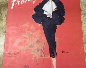 Vintage, Fashion Design, Paris, Mid Century, Magazine