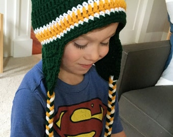 Football Team Ear Flap Hat
