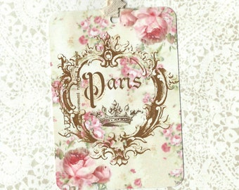 French Gift Tags, Paris, Party Favors, Vintage French Tags, Gift Tags