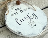 Personalized Pet Ornament - Dog Ornament - Pet Owner Christmas Gift - Pet Memorial - Personalized Gift - Wood Gift Tag - Dog Keepsake