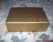Lady Buxton Vintage Gold Vinyl Covered Jewelry Box