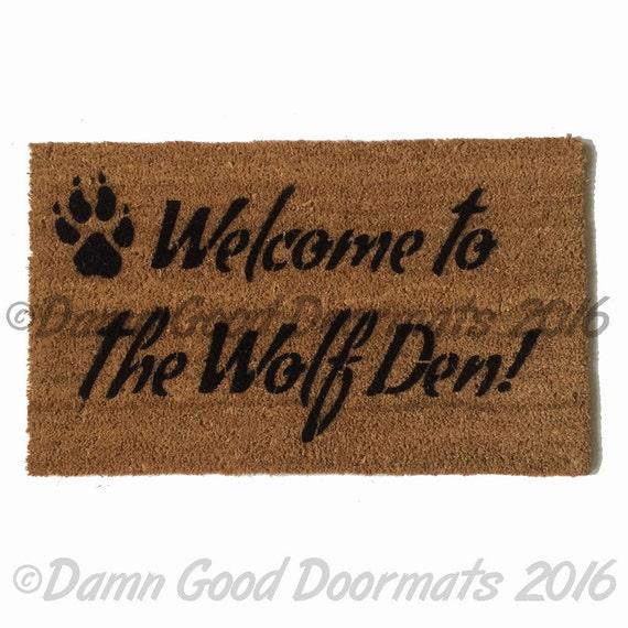 Welcome To The Wolf Den Doormat