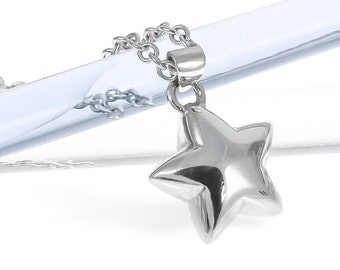 Silver Large Star Necklace | Stargazing | Handmade in Britain