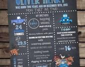Little Blue Truck Chalkboard Poster