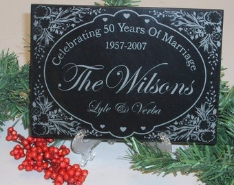 Personalized Wedding Gift, Personalized Anniversary Gift, Engraved Marble Wedding Gift, e Wedding Gift, 25 Anniversary Gift, Marble Plaques