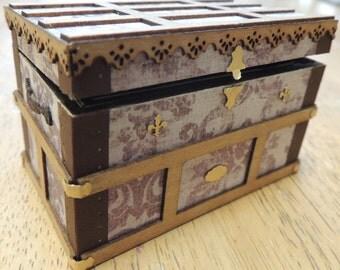 Dollhouse miniature full scale trunk kit