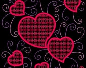 SWEETHEARTS #5- 1 Machine Embroidery Design Instant Download 4x4 5x7 6x10 hoop (AzEB)