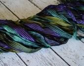 NeW dye batch - Hand dyed ribbon - THE GREAT WIZARD half inch dazzle ribbon, 5 yards