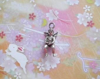 Vintage Silver Cherub Angel Cupid Charm