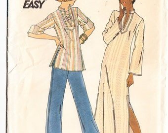 Vintage 1975 Butterick 3624 Sewing Pattern Misses' Caftan One Size 8-10 (Small) Bust 31-1/2 - 32-1/2