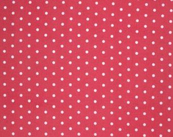 Pink Lulu pwtw0968RED Cotton Fabric by Tanya Whelan FreeSpirit Lulu Roses Dot