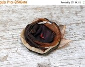SALE SALE SALE Fall flower brooch --- Fabric flower pin--- Dress flower, hat flower --- Tagt Rdtt --- Winter accessory