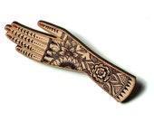 Tattoo Hand Brooch / Hand Brooch / Hand Pin / Henna Hand Brooch / Henna Hand Pin