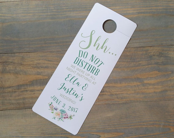 succulent wedding do not disturb, hotel door hanger, door hangers for wedding, wedding hotel door hangers, wedding door hanger