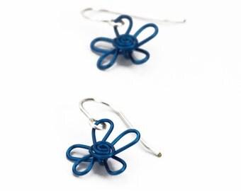 Mini Swirling Flower Earrings - You Pick Color