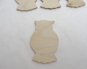 Small owl cutouts set of 4