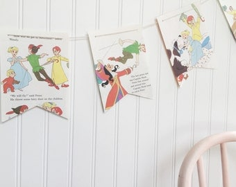 peter pan and wendy book party decoration banner garland