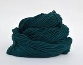 Teal Weaving Yarn, Navajo Weaving Yarn, Wool Yarn, 4oz skein