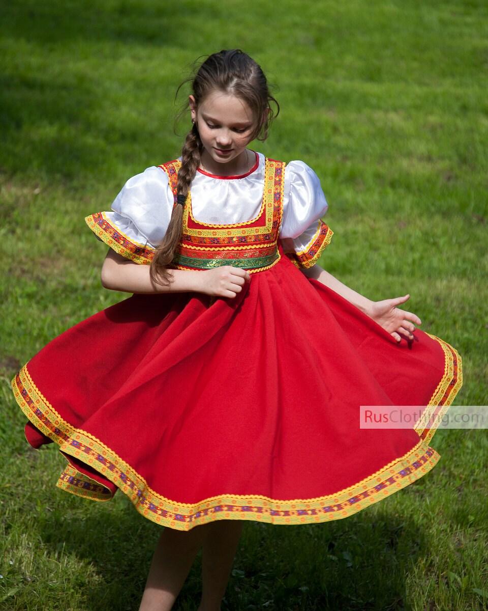 Russian Dress Dance Costume Folk Dress Russian Costume