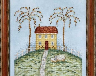 Meadowhill House - Four Seasons Series - Cross Stitch Pattern by DEBBIE MUMM Spring - Summer