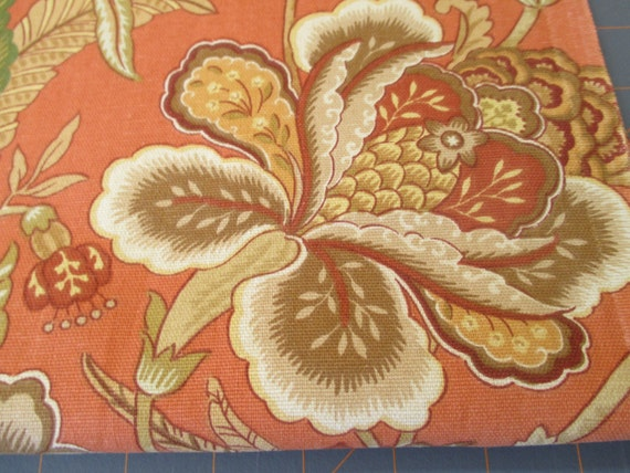 Floral Home Decor Fabric 1 yard by WhatItSeams on Etsy