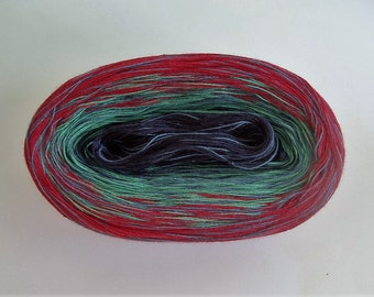 BLUEBERRY MEDLEY II Color Changing Cotton yarn  480 yards/100 gr  Fingering Weight