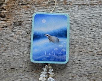 Badger - Handmade Ornament/Hanger
