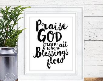 Praise God Christian Printable