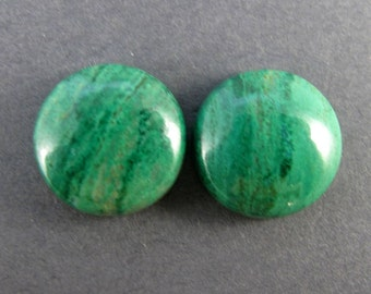 Parrot Wing Chrysocolla Designer Cabochon Matched Pair