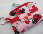 Zippy Wallet Pouch Key Laby Bugs Hearts Card holder -