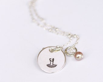 Dance Necklace, Ballet Necklace, Ballerina Necklace, Dance Recital Gift, Ballet Recital Gift, Gift for Dancer, Dance Teacher Gift, Stamped