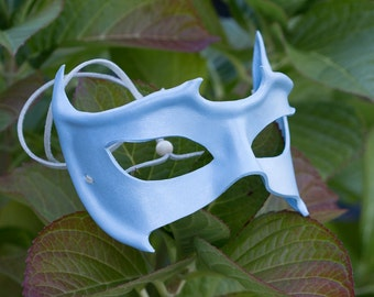 Clearance -- Horned Leather Mask Ice Blue