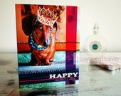 The Dachshund Queen Mother's Day Card - Blank inside