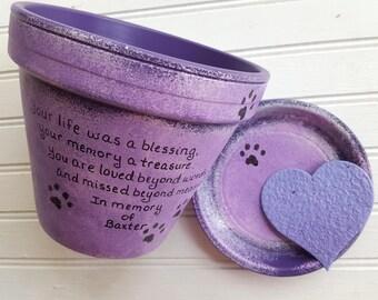 Dog Memorial - Cat Memorial - Pet Memorial - Personalized - Pet Sympathy Gift - Animal Sympathy