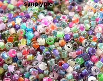 8/0 TOHO Color Lined Mix 10-Grams Assorted Colors Glass Seed Beads