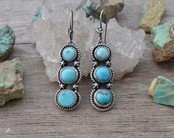 Royston Turquoise and Sterling Silver Earrings