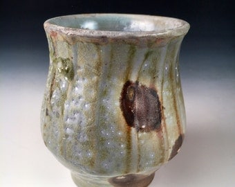 Shot Glass, Whiskey, Sake, Shooter, Cup, Woodfired Porcelain Blend Ceramic Pottery by Justin Lambert