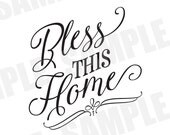 SVG Commercial/Personal Use Bless This Home Bible Silhouette Cameo Cut File